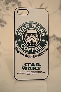 Чехол для iPhone 5/5s Star Wars Coffee-3