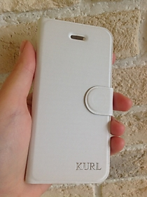 "Чехол-книжка для iPhone 5/5S ""Kurl"" белая"